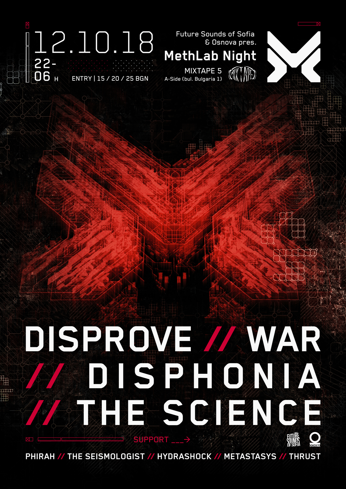 Drum & Bass label METHLAB with concert in Sofia