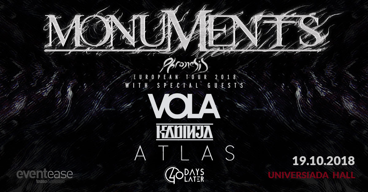 Monuments, Vola, ATLAS and KADINJA with concert in Sofia