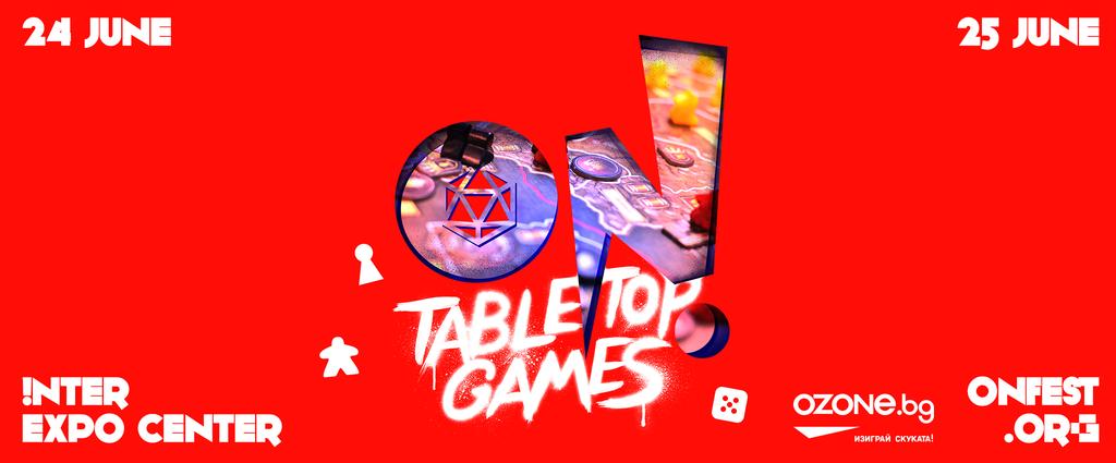 200 маси за любимото хоби на феновете на настолните игри само на ON! Fest този юни