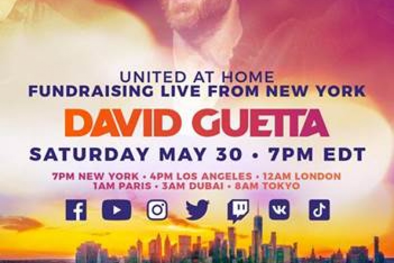 David Guetta / United at Home - Fundraising Live from New York (Trailer)